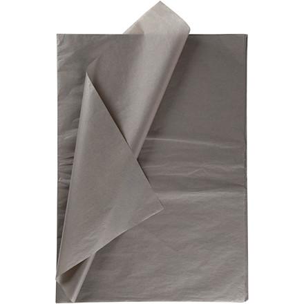 Silkepapir grå 50 x 70 cm - 25 ark
