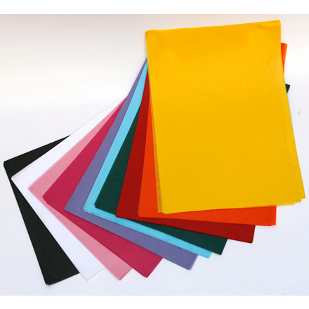 Silkepapir - i pink 50 cm x 75 cm. 480 ark i pakken