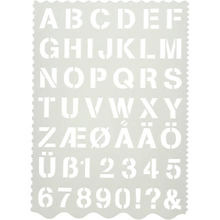 Skabelon størrelse 21 x 29 cm | bogstaver og tal
