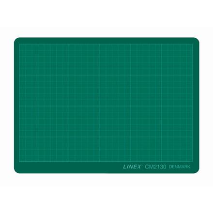 Skæreplade plast i grøn Linex - 3 mm 210 x 300 mm