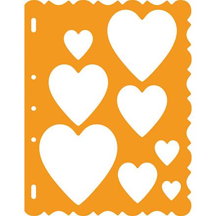 Skæreskabelon ark 21 x 28 cm | hjerter