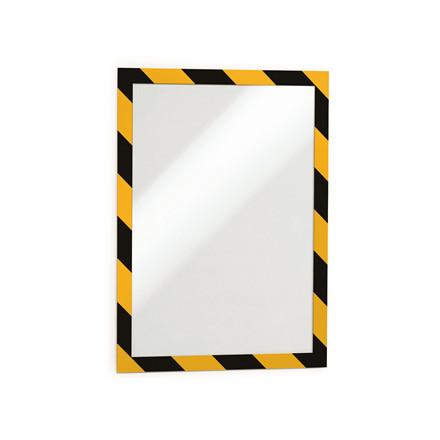 Skilt DURAFRAME® Security A4 m/gul/sort ramme 2stk/pak