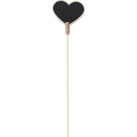 Skilt på pind Hjerte, størrelse 6,9 x 5,3 cm Tykkelse 3 mm | 5 stk