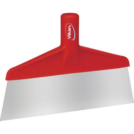 Skraber, Vikan Hygiejne, rød, med stålblad, 26 cm