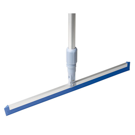 Skraber, Vileda, blå, med udskifteligt gummiblad, 50 cm
