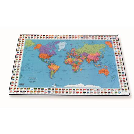 Skriveunderlag med Verden - Bantex 44 x 63 cm