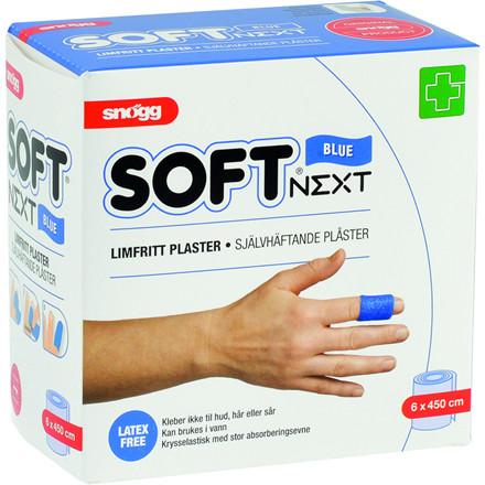 Skumforbinding, Soft Next, blå, selvhæftende, latexfri, 6 cm x 4,50 m