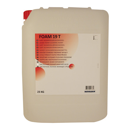 Novadan Foam 19T surt skumrengøringsmiddel - 23 kg dunk