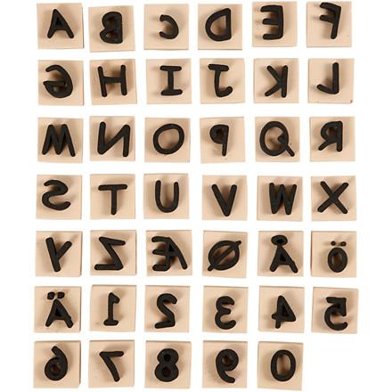 Skumstempler størrelse 3 x 3 cm tykkelse 13 mm | 41 stk.