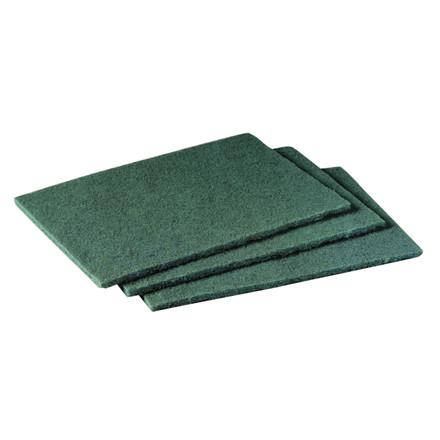 Skurenylon, 3M Scotch-Brite, grøn, med slibemiddel til grov rengøring, 10x10.000cm,