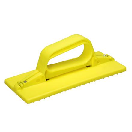 Skurenylonholder, Vikan Hygiejne, gul, med håndtag, 23