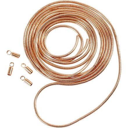 Slangekæde, dia. 1,2 mm, rosaguld, 1m
