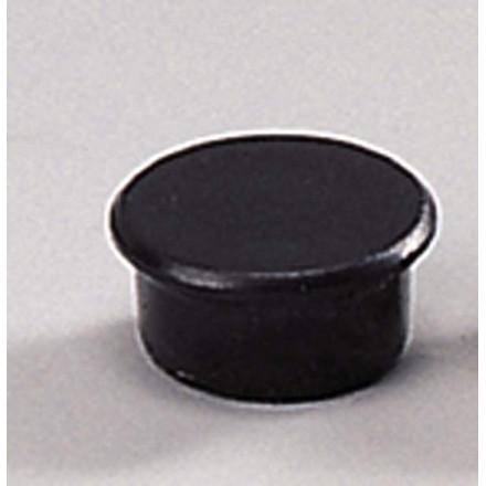 Små magneter - Dahle 13 mm rund sort - 10 stk.