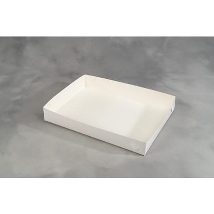 Smørrebrødsæske hvid 45 x 32 x 6,5 cm - 100 stk