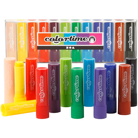 Soft Color Stick, 6,5 g, L: 8 cm, ass. farver, 12stk.