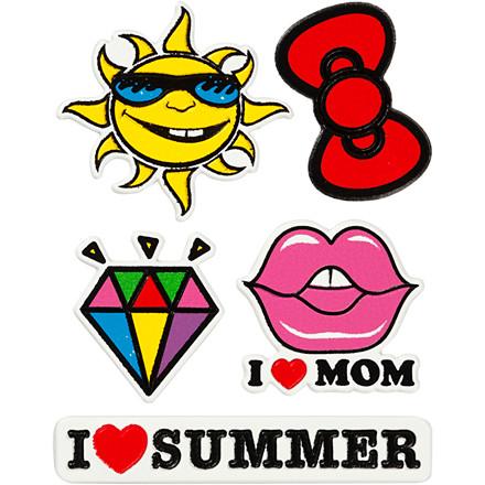 Soft Stickers, ark 12,2x17,75 cm, I Love Mom, 1ark