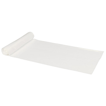Spandepose i hvid LD 40 liter - 580 x 600 mm 50 poser pr rulle