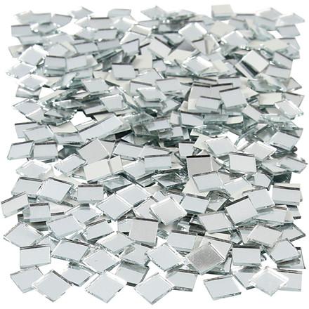 Spejlmosaik størrelse 10 x 10 mm tykkelse 2 mm kvadratisk | 500 stk.