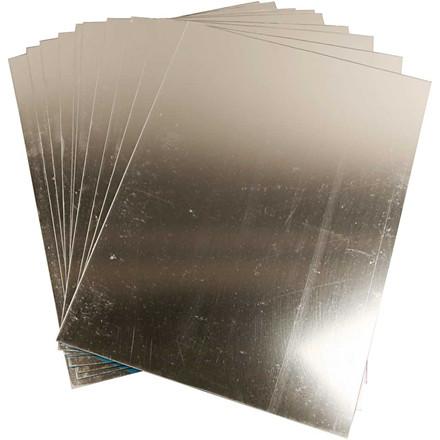 Spejlplast, ark 29,5x21 cm, tykkelse 1,1 mm, 10ark