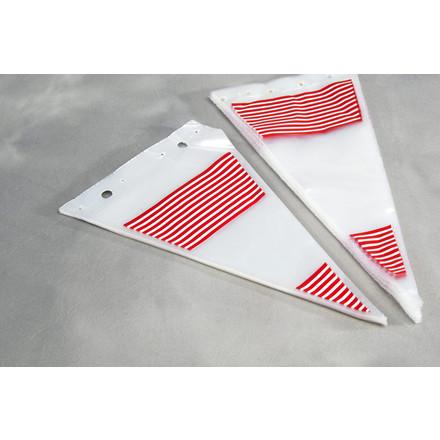 Spidsposer klar med røde striber 240 x 400 mm - 1000 stk