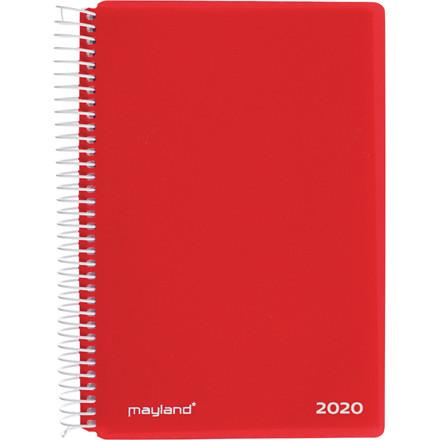 Spiralkalender rød PP 12x17cm 1 dag/side 20 2100 40