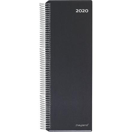 Spiralnoteringskalender sort 10x32cm 1 dag/side 20 2250 00