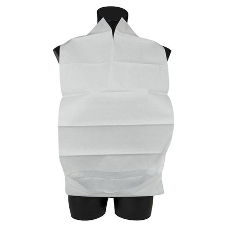 Spisestykke, Abena, hvid, med vendbar lomme, 38x70 cm