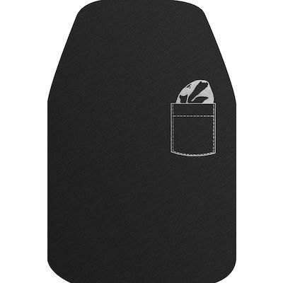 Spisestykke, DuniSoft, sort, med lomme, 40x60 cm