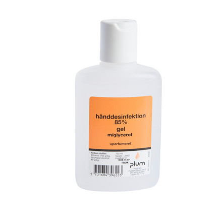 Håndsprit Gel 85% desinficering 150ml Plum