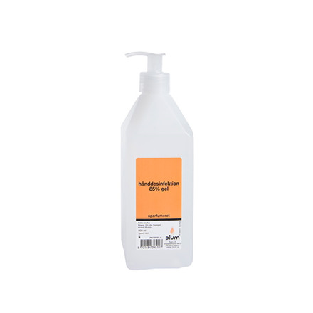 Plum Hånddesinfektion 85% Gel uden parfume 3951 - 600 ml