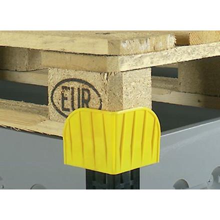 Stabelhjørne til pallerammer i gul - LogiLine sikkerhedshjørne
