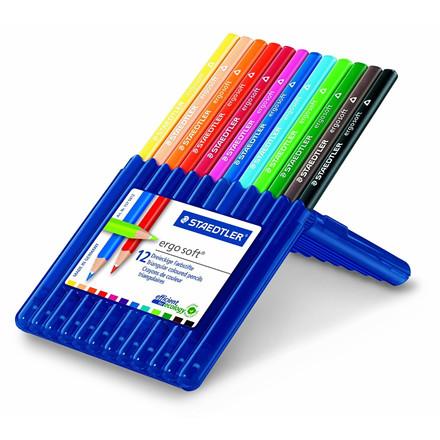Staedtler Ergosoft Farveblyanter - Sæt med 12 farver - 157-SB12