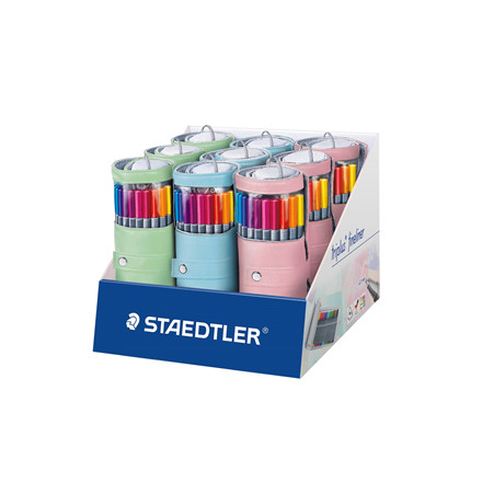 Staedtler Fineliner Triplus m. pastel penalhus 0,3mm ass (20)