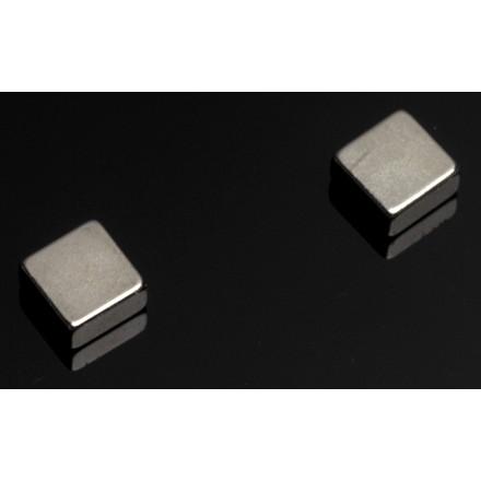 Stærke magneter - til glastavle NAGA stål firkantet - 6 stk.