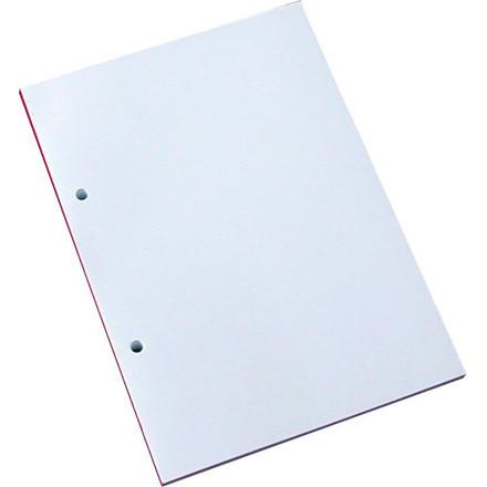 Blok - A5 blank uden linjer med 2 huller - 100 ark