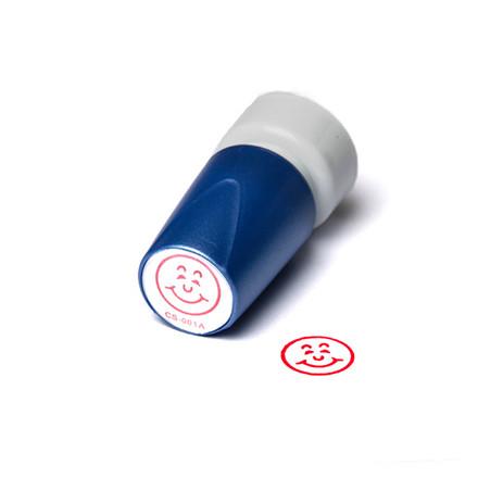 Stempel Trodat Glad ansigt - Deskmate med rød tekst
