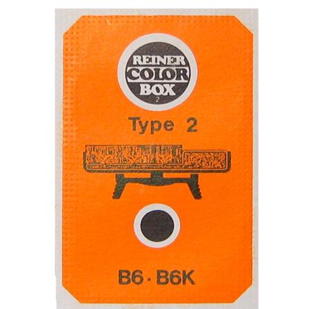 Farvepude til nummerstempel Reiner B6K type 2 - rød