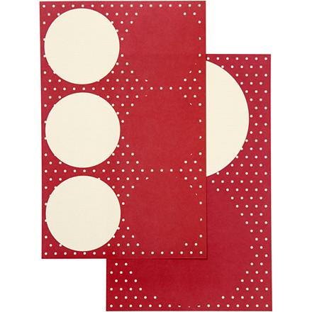 Stickers Vivi Gade design Copenhagen diameter 4 + 6,5 cm | 2 x 2 ark