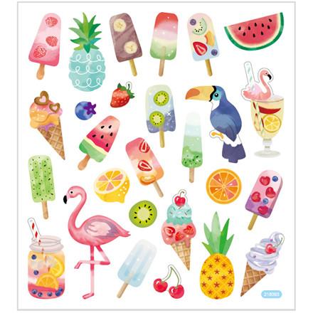 Stickers, ark 15x16,5 cm, 27 stk., is og pelikaner, 1ark