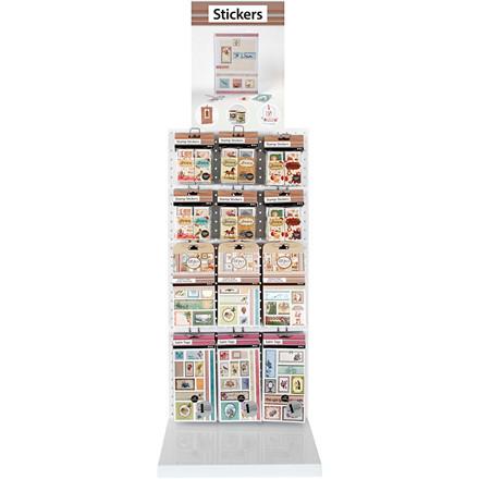 Stickers, ark 15x16,5 cm, ekskl. Inventar, 120salgsenheder