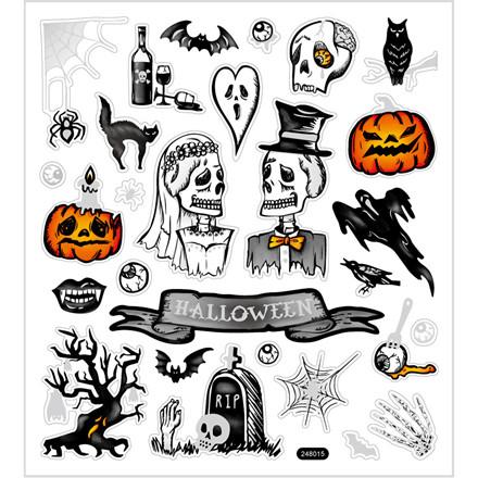 Stickers, ark 15x16,5 cm, halloween, 1ark