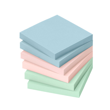 Sticky Notes - Info 2 x 3 farver 75 x 75 mm 100 ark - 6 blokke