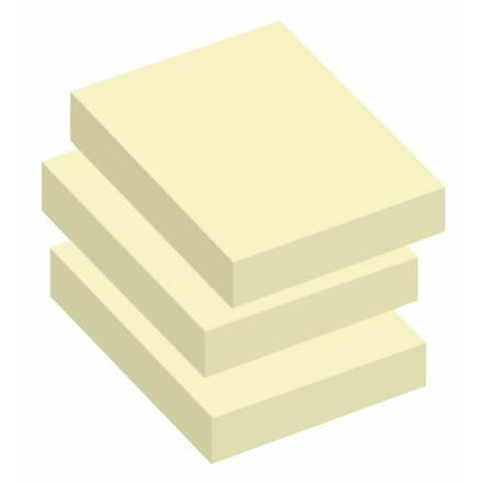 Sticky Notes - Q-Line gule  50 x 40 mm - 12 blokke