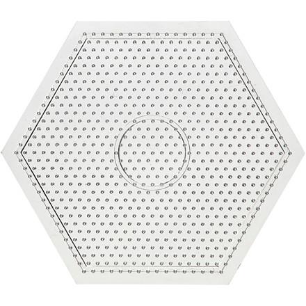 Stiftplade, str. 15x15 cm, stor sekskant, 10stk.
