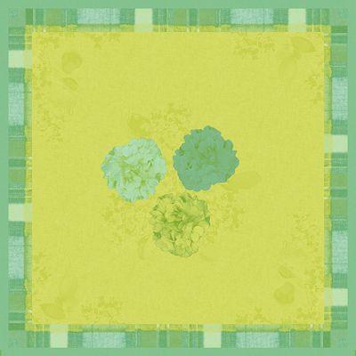 Stikdug, Dunisilk+, endless summer grøn, 84cm x 84cm