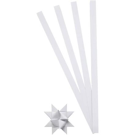 Stjernestrimler hvid Bredde 10 mm, diameter 4,5 cm - 100 stk