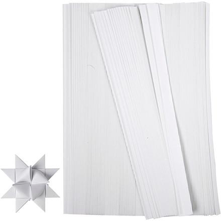 Stjernestrimler, B: 10 mm, hvid, 500 stk., L: 45 cm
