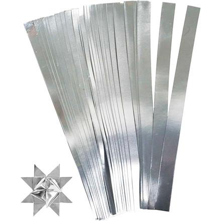 Stjernestrimler sølv Bredde 15 mm diameter 6,5 cm Længde 45 cm | 100 stk