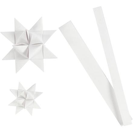 Stjernestrimler Vivi Gade hvid silke B: 15 + 25 cm Ø: 6,5 + 11,5 cm L: 44 + 78 cm | 32 strimler