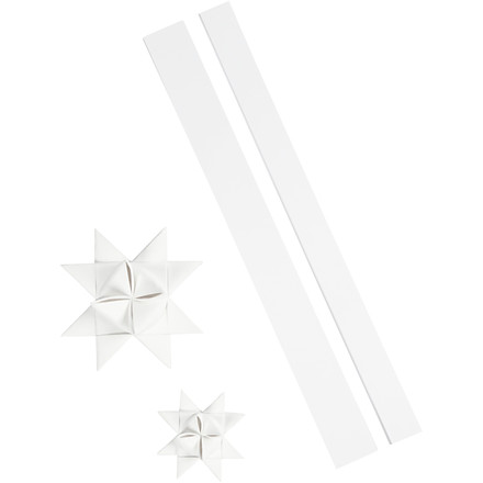 Stjernestrimler Vivi Gade outdoor hvid B: 25 + 40 cm Ø: 11,5 + 18,5 cm L: 86 + 100 cm | 16 strimler
